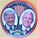 Trump 1Q - Keep America Great Trump And Pence  2020 Campaign Button