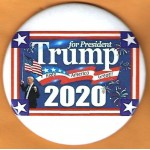 Trump 10L - Trump for President Keep America Great!!  2020 Campaign Button