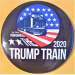 Trump 10P - All Aboard The Trump Train 2020 Campaign Button