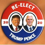 R2020 1E - Re- Elect Trump Pence 2020 Campaign Button