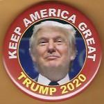 Trump 14E - Keep America Great Trump 2020 Campaign Button