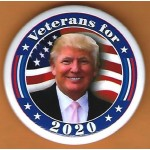 Trump 14H - Veterans for  2020 Campaign Button
