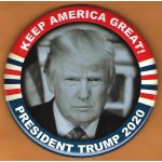 Trump 24C - Keep America Great! President Trump 2020 Campaign Button