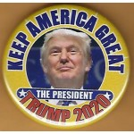 Trump 5P - Keep America Great The President Trump 2020 Campaign Button