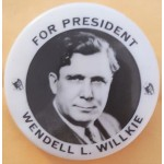 Willkie 8J  - For President Wendell L. Willkie Campaign Button