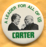 Jimmy Carter 1976 campaign button.