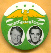 Carter Mondale campaign button.