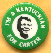 Jimmy Carter campaign button.