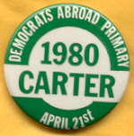 Carter 1980 primary campaign button.