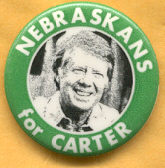 Jimmy Carter picture presidential campaign button.