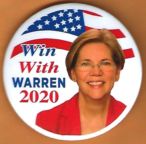 Elizabeth Warren Campaign Buttons available  at campaignbutton-etc.com starting at $3.00.